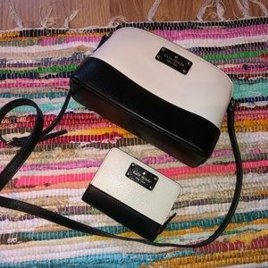 Dual tone Kate Spade shoulder bag + wallet